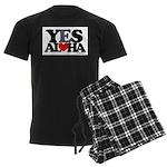 Yes Aloha Men's Dark Pajamas