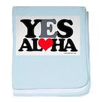Yes Aloha baby blanket