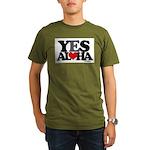 Yes Aloha Organic Men's T-Shirt (dark)