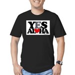Yes Aloha Men's Fitted T-Shirt (dark)