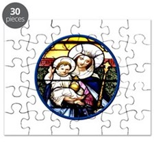 Jesus and Mary Stained Glass Window Puzzle