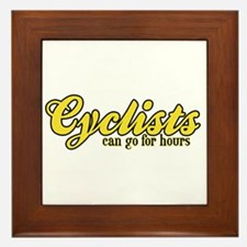 Cyclists Can Go for Hours Framed Tile