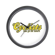 Cyclists Can Go for Hours Wall Clock