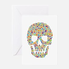 Skull of Dots Greeting Card