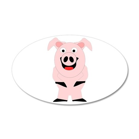 Pig Design 22x14 Oval Wall Peel