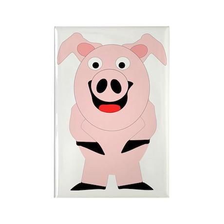 Pig Design Rectangle Magnet (100 pack)