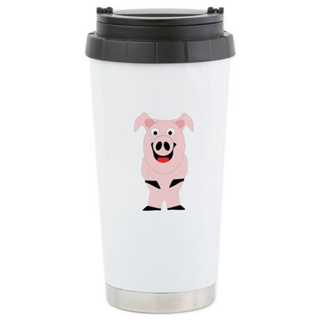 Pig Design Stainless Steel Travel Mug