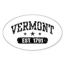 Vermont Est. 1791 Decal