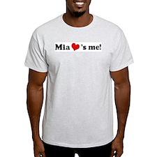 Mia loves me Ash Grey T-Shirt