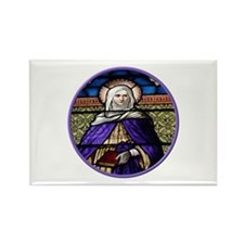 St. Anne Stained Glass Window Rectangle Magnet