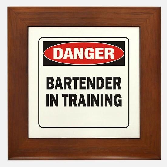 Bartender Framed Tile