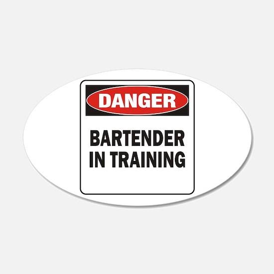 Bartender 22x14 Oval Wall Peel
