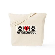 I Love My Granddog Tote Bag