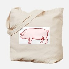 Pissed Off Pig Tote Bag