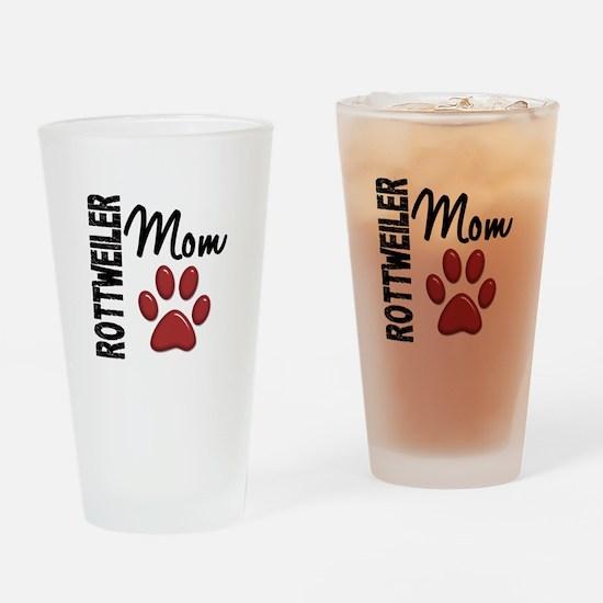 Rottweiler Mom 2 Drinking Glass
