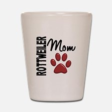 Rottweiler Mom 2 Shot Glass