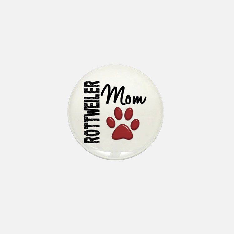 Rottweiler Mom 2 Mini Button