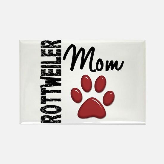 Rottweiler Mom 2 Rectangle Magnet