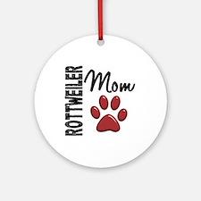 Rottweiler Mom 2 Ornament (Round)