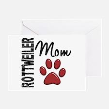 Rottweiler Mom 2 Greeting Card