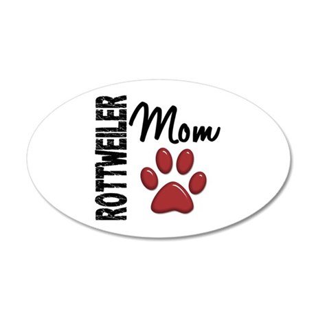 Rottweiler Mom 2 22x14 Oval Wall Peel