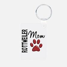 Rottweiler Mom 2 Keychains