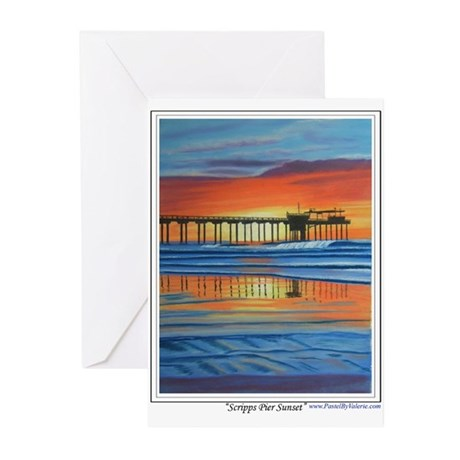 Scripps Pier Sunset Greeting Cards (Pk of 20)