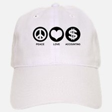 Peace Love Accounting Baseball Baseball Cap