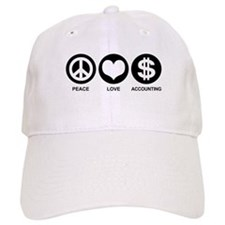 Peace Love Accounting Baseball Cap