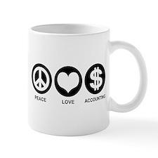 Peace Love Accounting Small Mug