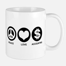 Peace Love Accounting Small Small Mug