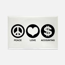Peace Love Accounting Rectangle Magnet