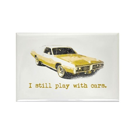 I still play with cars Rectangle Magnet (10 pack)