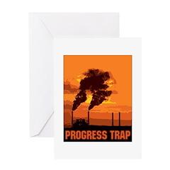 Industrial Progress Trap Greeting Card