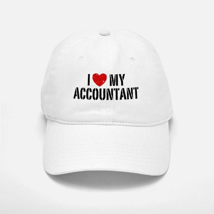 I Love My Accountant Baseball Baseball Cap
