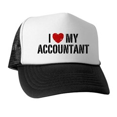 I Love My Accountant Trucker Hat