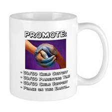 Promote 50/50 World Black Mug