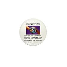 Promote 50/50 World Black Mini Button (100 pack)