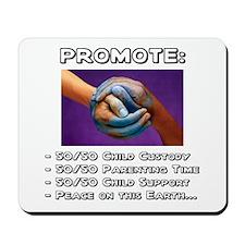 Promote 50/50 World Black Mousepad