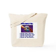 Promote 50/50 World Blue Tote Bag