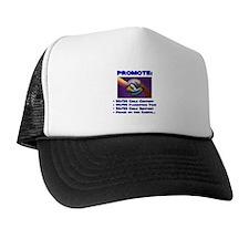 Promote 50/50 World Blue Trucker Hat