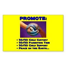 Promote 50/50 World Blue Rectangle Decal