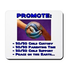 Promote 50/50 World Blue Mousepad