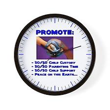 Promote 50/50 World Blue Wall Clock
