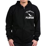 I'm a bit of a player goal keeper Zip Hoodie (dark