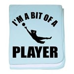 I'm a bit of a player goal keeper baby blanket