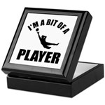 I'm a bit of a player goal keeper Keepsake Box
