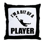I'm a bit of a player goal keeper Throw Pillow