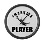 I'm a bit of a player goal keeper Large Wall Clock