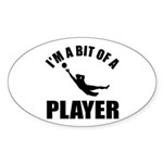 I'm a bit of a player goal keeper Sticker (Oval 50